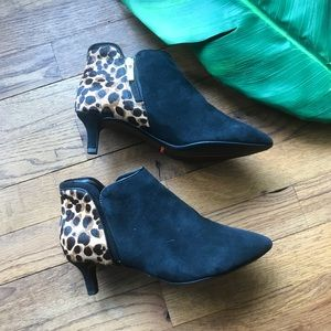 Rockport Leopard Suede Booties